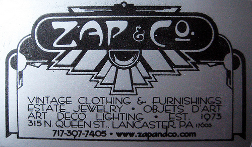 zap and co vintage business card