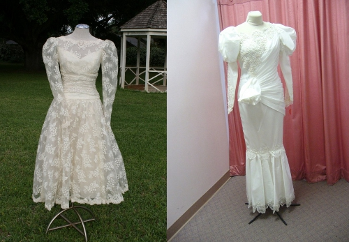 1980s vintage wedding dress picture