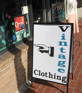 vintage clothing sign