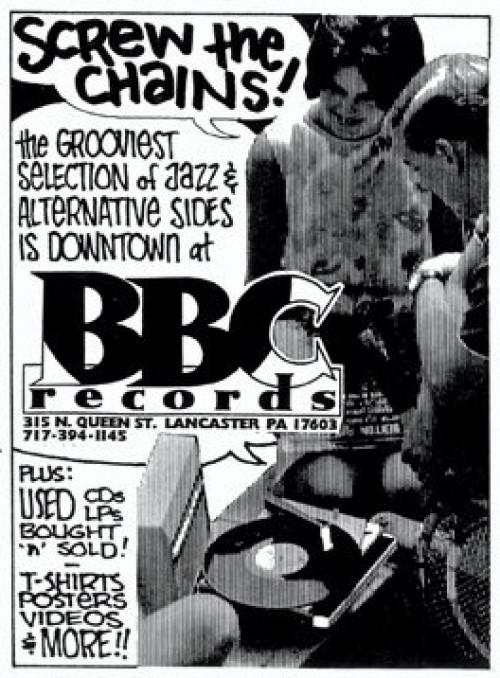bbc record store lancaster pa ad