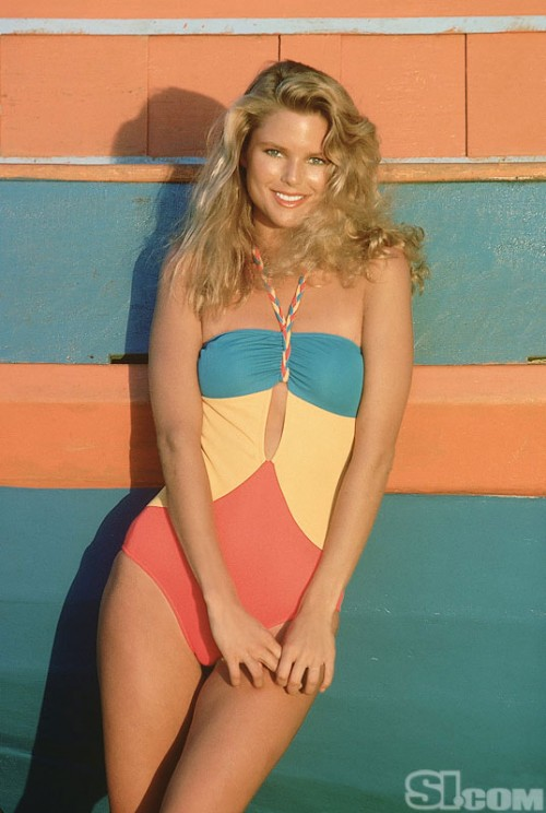 christie brinkley 1970s vintage swim suit