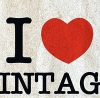 i love vintage fashion sticker