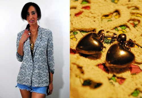 indie style society vintage fashion giveaway earrings and blazer
