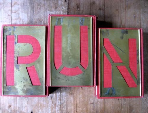 vintage run brass stencils