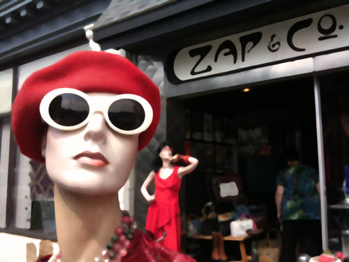 zap and co lancaster pa storefront hilda mannequin