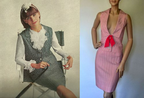 vintage fashion stripes mccalls magazine 1960s