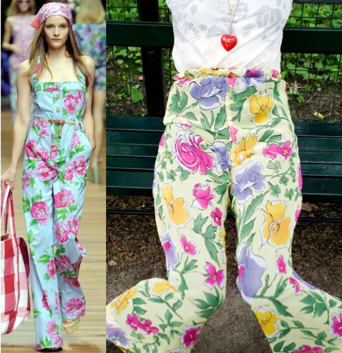 D&G spring 2011 compared to vintage palazzo pants