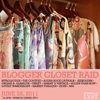 blogger closet raid flyer
