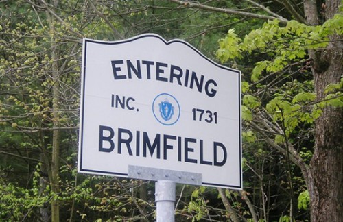 brimfield antique show sign