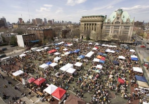 brooklyn flea aerial view
