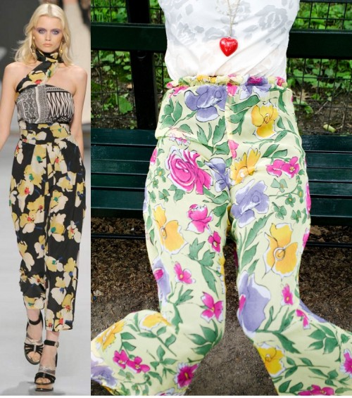 etro spring 2011 copared to vintage palazzo pants