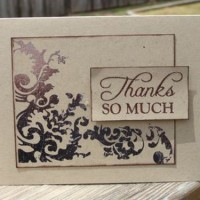 vintage design thank you card