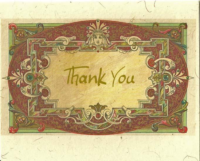 Для, старинная открытка спасибо