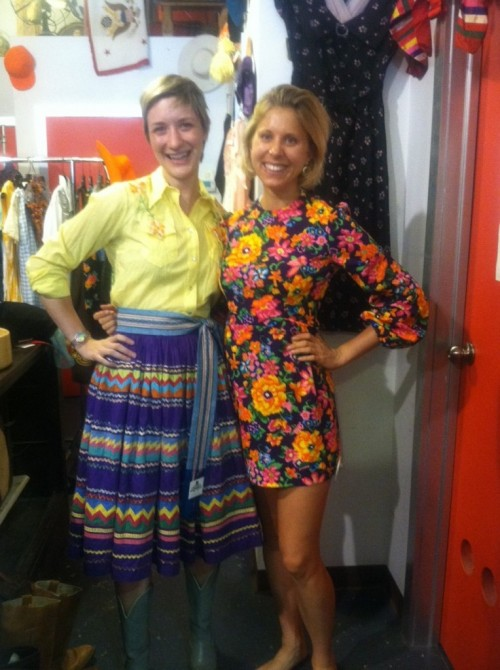 jessi arrington and sammy davis at guvnor's thrift and vintage