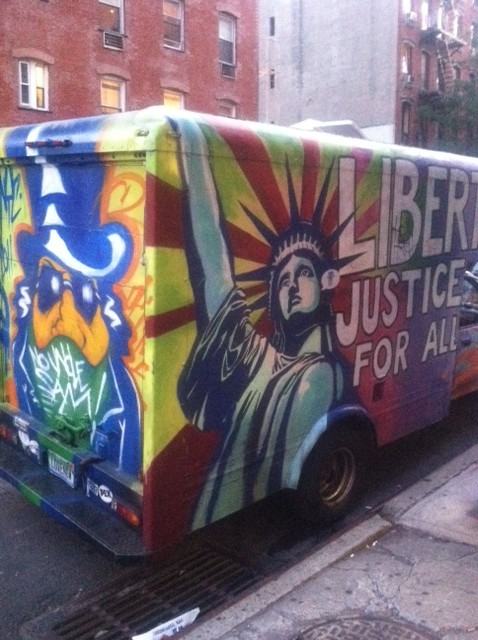 graffiti truck liberty
