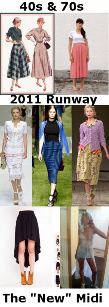history of midi skirt