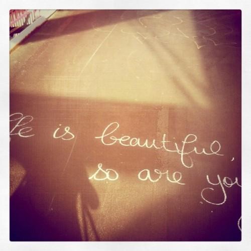 life is beautiful graffiti