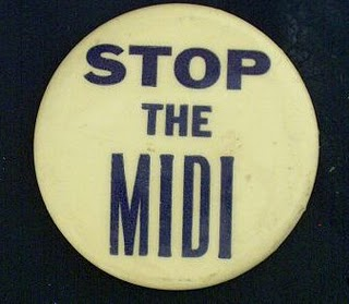 midi skirt protest button 1970