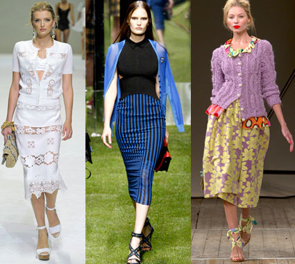 How to Wear a Vintage Midi Skirt for 2011