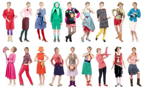 jessi arrington rainbow outfit montage