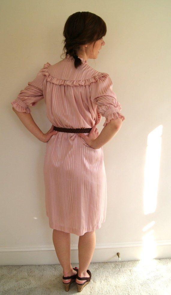 vintage dress pinstripes