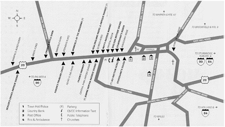 brimfield antique show map