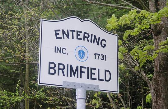 brimfield antique show sign