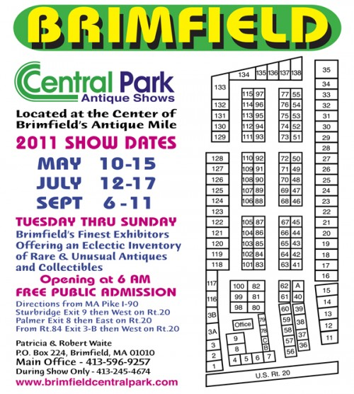 brimfield antique show central park map