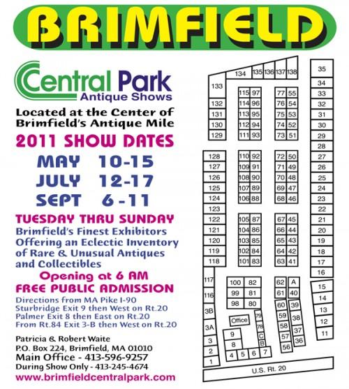 brimfield antique show central park map