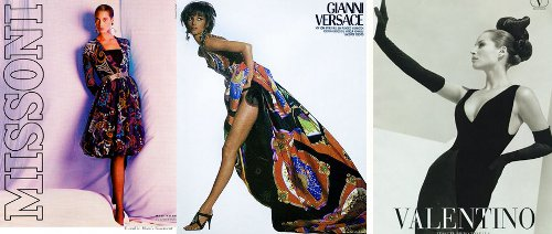 christy turlington vintage photo versace ad