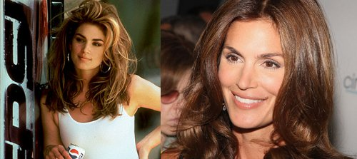 cindy crawford then and now vintage photos