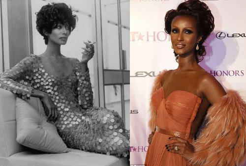 iman then and now vintage photos