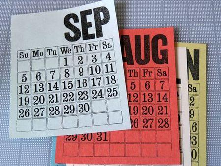 vintage september calendar