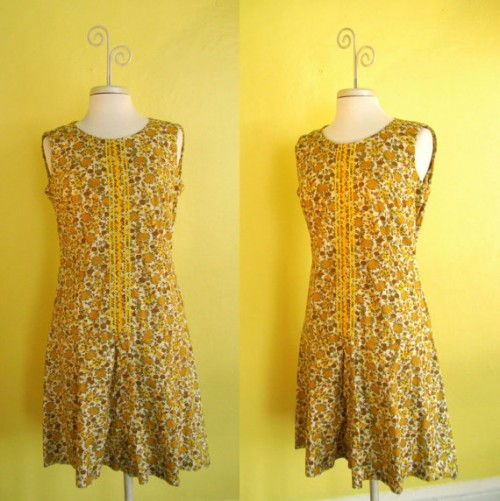 1960s dropwaist dress