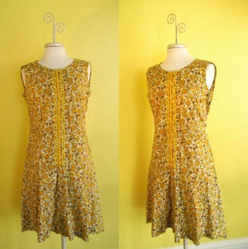 1960s dropwaist dress