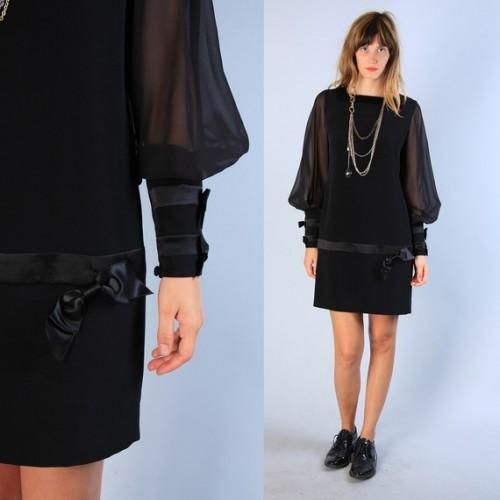 '80s drop waist dress