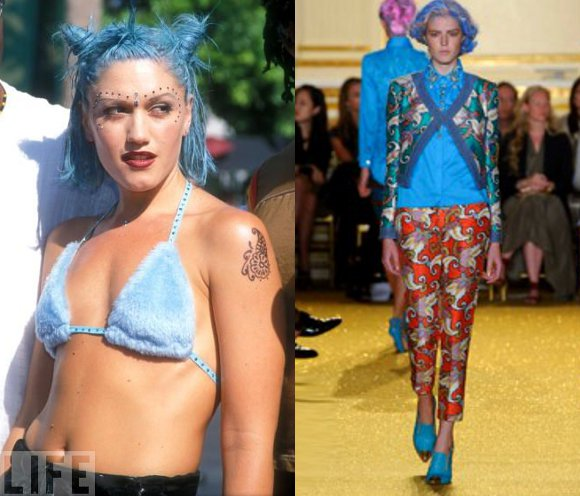 90s vintage fashion trends on spring 2012 runways