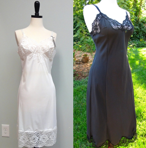 vintage silk slip dresses