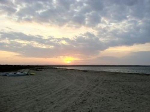 hamptons beach sunset