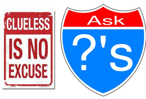 ask questions sign