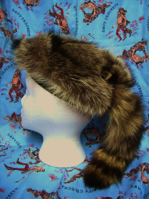 davy crockett racoon hat