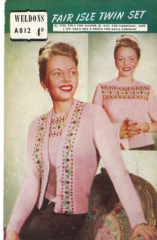 fair isle sweater pattern 40s