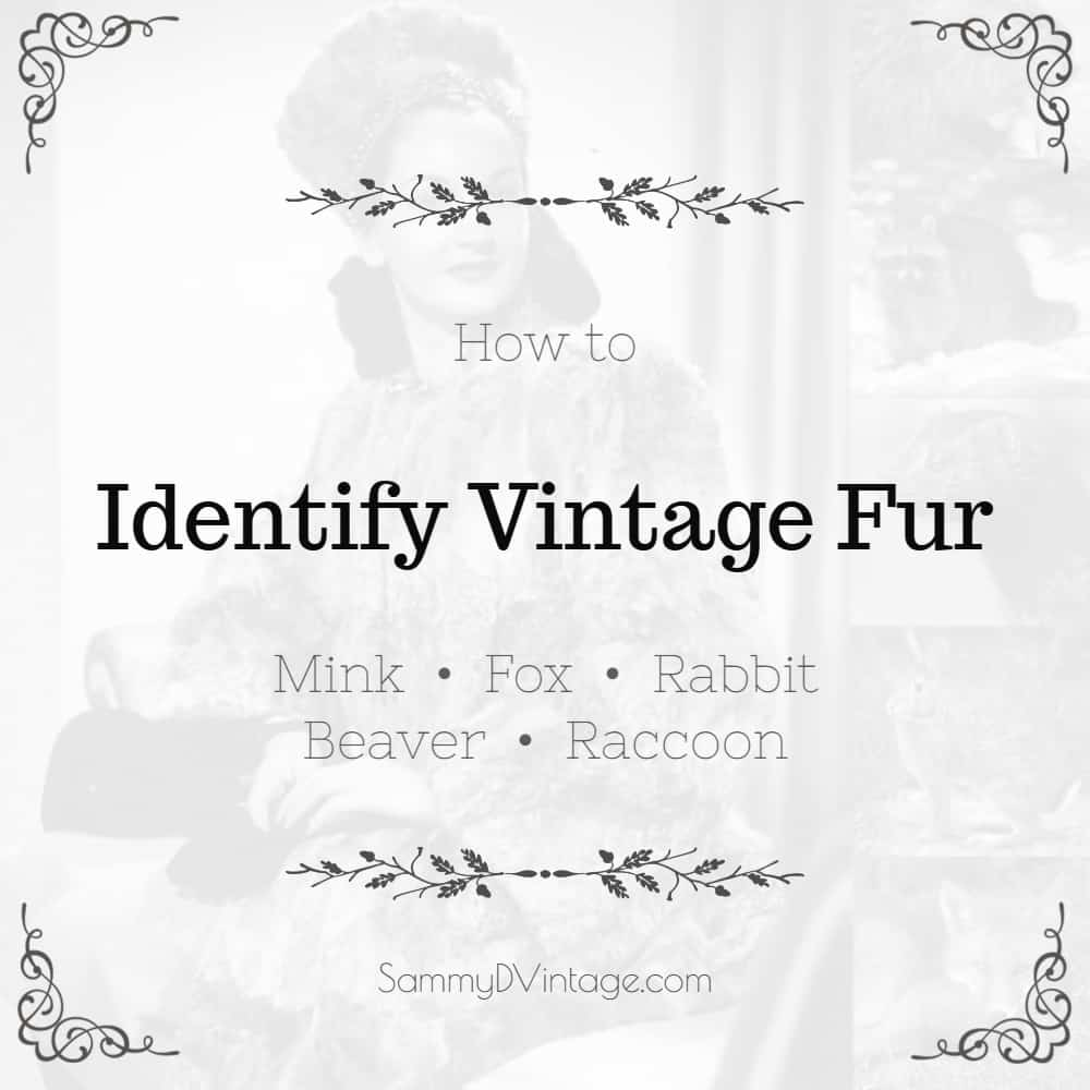 Vintage Mink Fox Rabbit, How Do You Tell What Kind Of Fur Coat Have