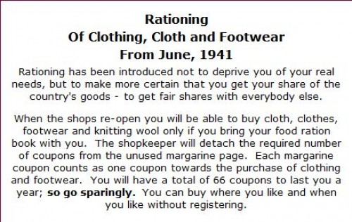 rationing of clothing world war II ad