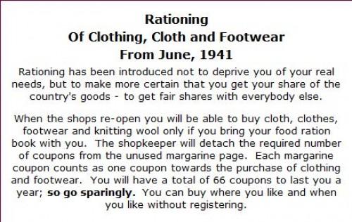 rationing of clothing world war II ad