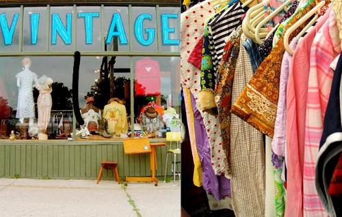vintage fashion clothing store