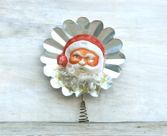 1940s Santa Vintage Christmas Tree Topper