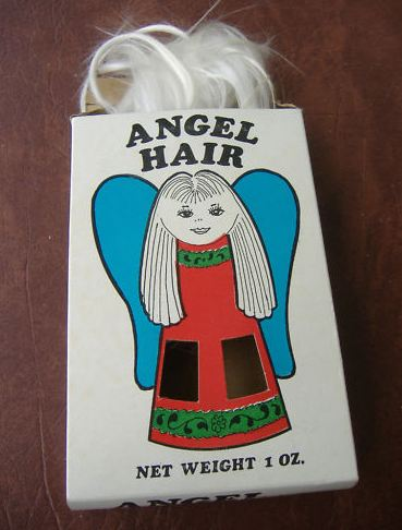 angel hair decorations 1940s