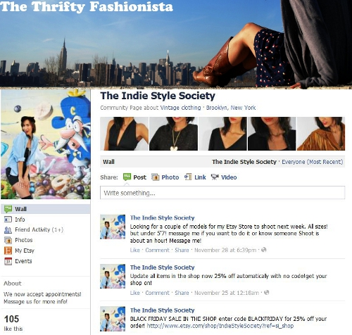 facebook site thrifty fashionista