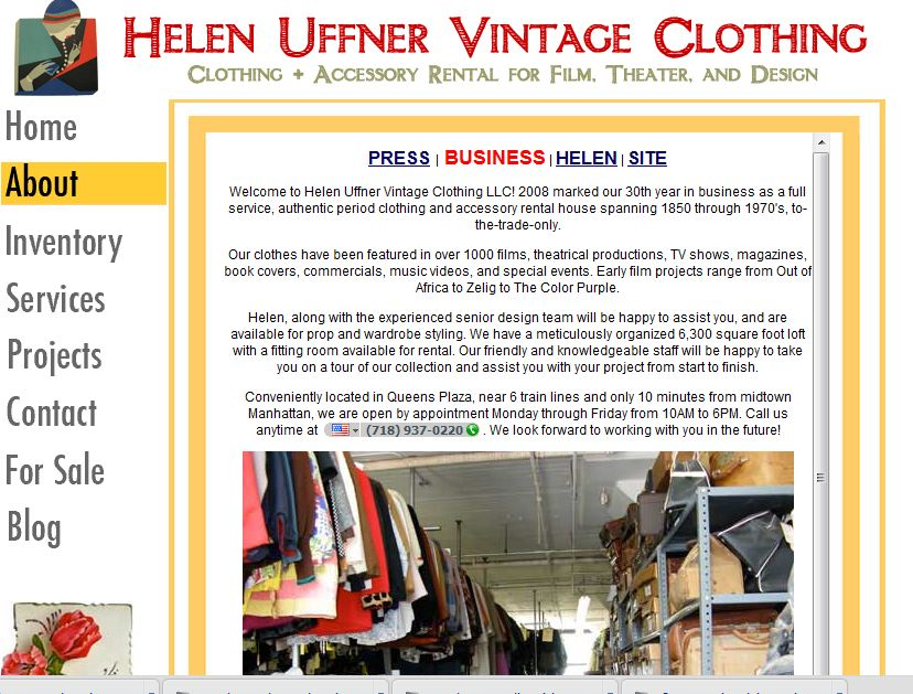 helen uffner vintage clothing museum